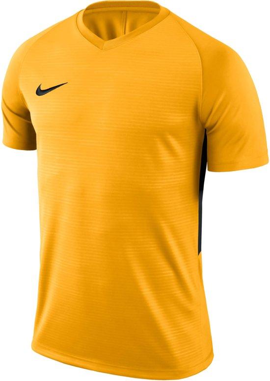 Nike Tiempo Premier SS Jersey Teamshirt Sportshirt performance - Maat M  - Mannen - geel/zwart