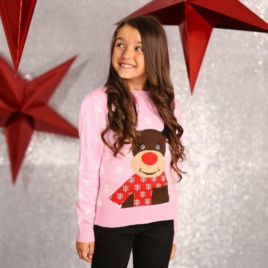 Kersttrui Maat 116.Bol Com Roze Kersttrui Voor Meisjes 5 6 Jaar 116 122 Merkloos