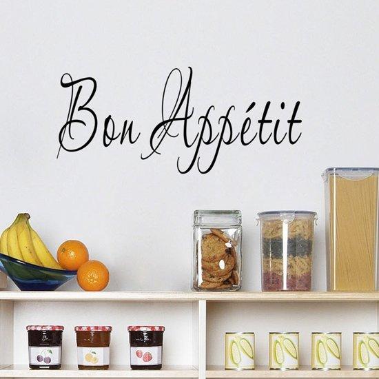 Muursticker tekst bon appetit keuken for Maioliche adesive