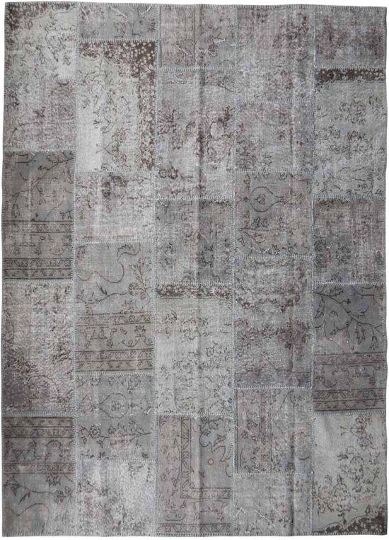 Vloerkleed Vintage Patchwork.Bol Com Vintage Patchwork Vloerkleed Grijs Afmeting 284