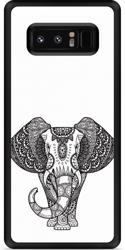 Galaxy Note 8 Hardcase Hoesje Elephant Mandala Black