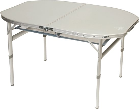 Bol.com camp gear tafel ovaal koffermodel 120x80 cm