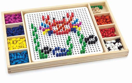 Viga Toys - Figuren Maken & 'Mens Erger Je Niet' - Bordspel