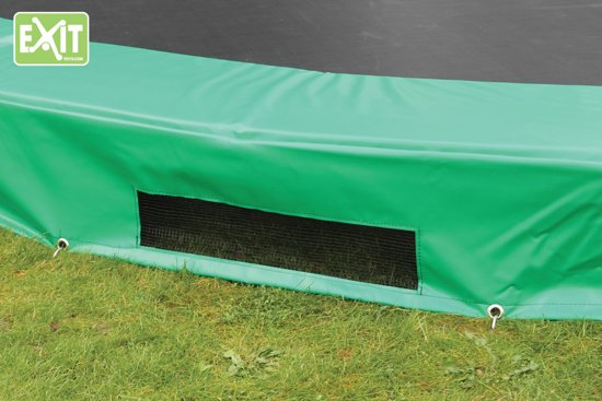 EXIT InTerra Inground Trampoline - 366 x 214 cm - Groen