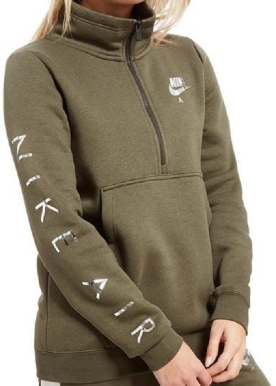 Nike Air dames hoodie half zip maat L