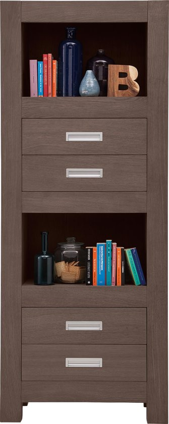 bol.com | Boekenkast Reality, boekenkast 80 cm breed, 4 laden, 2 ...