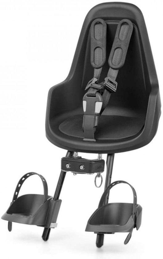 Bobike One mini - Fietsstoeltje Voorzitje - Urban Black