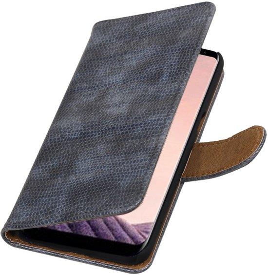 Grijs glamour design book case voor Samsung Galaxy S8 Plus hoesje