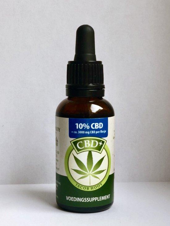 CBD Plus olie 10% (Jacob Hooy) - 30 ml