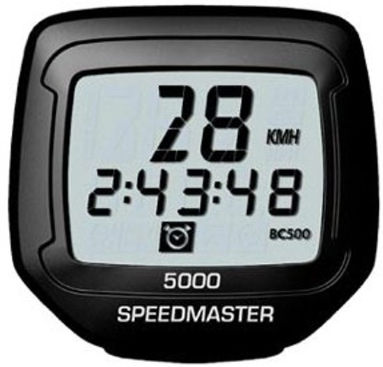 Sigma BC 5000 Speedmaster Fietscomputer - Bedraad -5 functies - Zwart