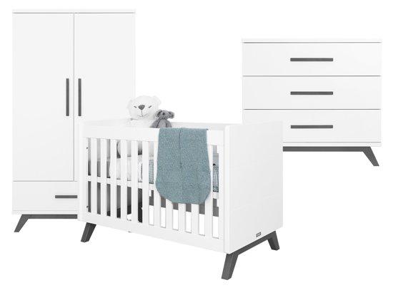 Hoogte Commode Babykamer : Bol.com bopita babykamer levi 3 delige bed commode 2