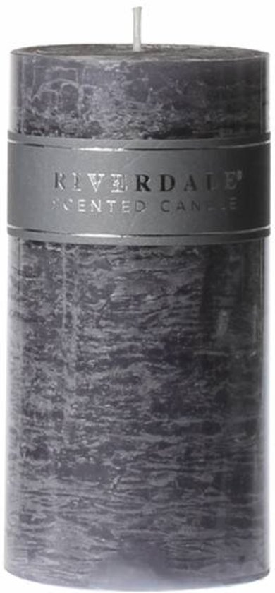 Riverdale Kaars Pillar cool grey 7,5x15
