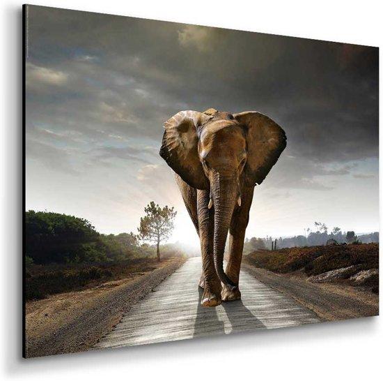 Base olifant schilderij 80x60cm for Schilderij olifant