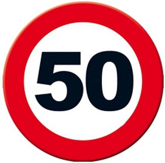 bord 50 jaar bol.| Decoratie verkeersbord 50 jaar 49 cm, Merkloos | Speelgoed bord 50 jaar