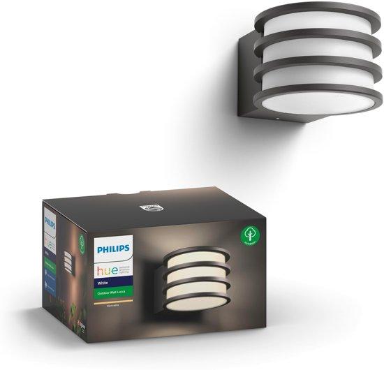 Philips Hue Lucca - Wandlamp - 1 Lichtpunt - antraciet  - 1 x 806lm