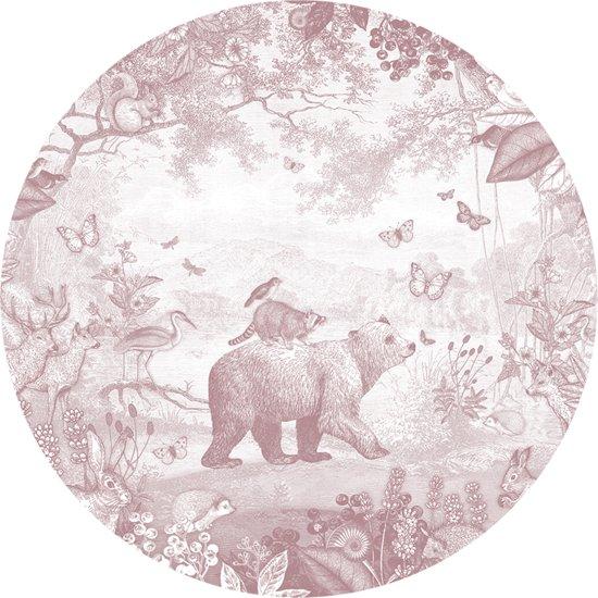 Pimpelmees muursticker Dieren Bos - kinderkamer - babykamer - 120 cm - roze