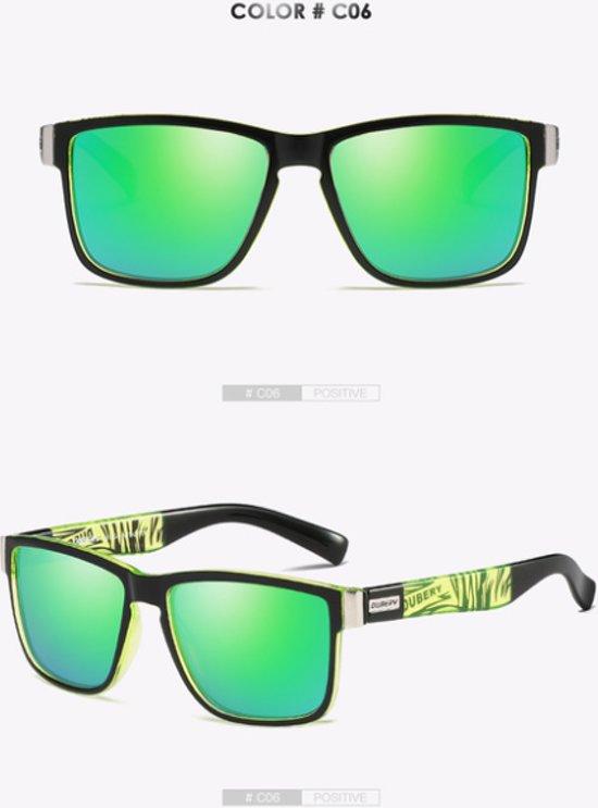 Luxe Dubery zonnebril Groen
