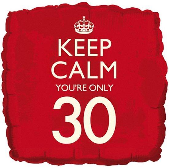 Keep Calm folie ballon 30