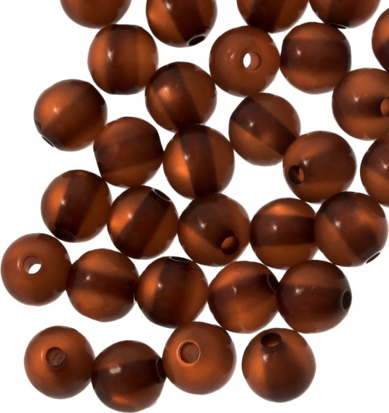 Resin Kralen (6 mm) Brown Shine (50 Stuks)