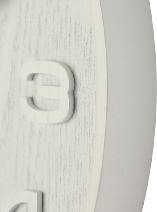 Nextime Wandklok Wood Wood White Medium