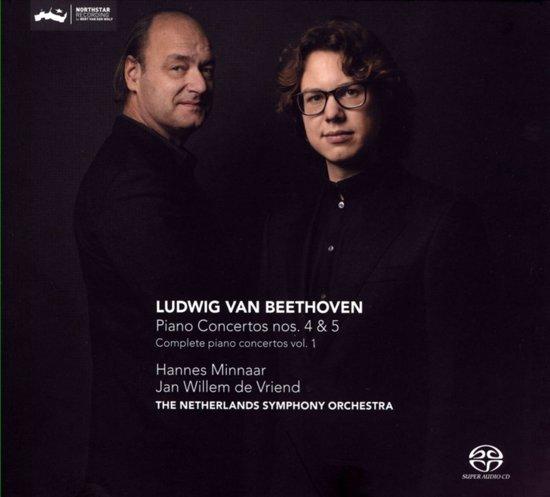 Beethoven - Piano Concertos 4 & 5 - Minnaar - de Vriend CD
