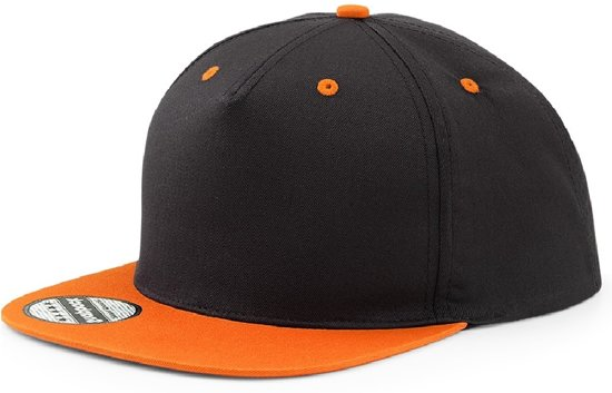 Panel Contrast Snapback - Beechfield - Black/Orange