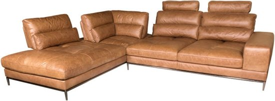 bol.com | HomingXL Loungebank an chaise longue links| leer cognac on chaise furniture, chaise recliner chair, chaise sofa sleeper,