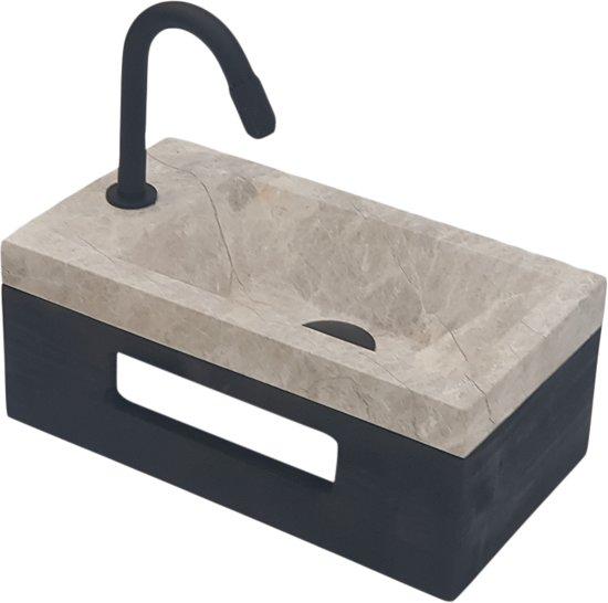 Toilet Wasbak Met Hout.Bol Com Sanitear 40 X 20 X 16 Cm Fonteinset Toilet Marmer