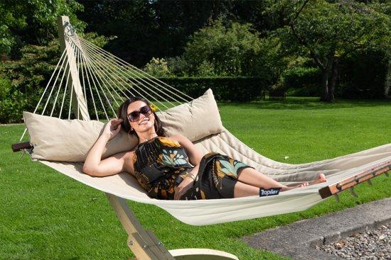 Hangmat met Standaard Familie 'Wood & Vegas' Taupe