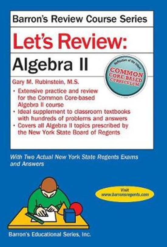 Boek cover Lets Review Algebra II van Gary M. Rubenstein, M.S. (Paperback)