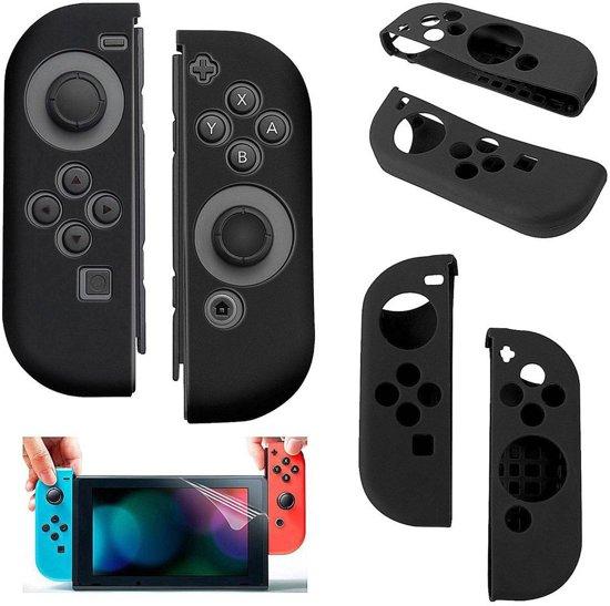 Silicone Anti Slip cover voor Nintendo Switch Controller Zwart
