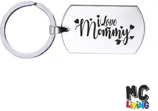 Sleutelhanger RVS - I Love Mommy