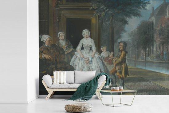 Fotobehang vinyl - De liereman - Schilderij van Cornelis Troost breedte 480 cm x hoogte 360 cm - Foto print op behang (in 7 formaten beschikbaar)