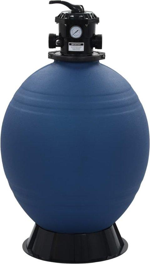vidaXL Zwembadzandfilter met 6-positie ventiel 660 mm blauw