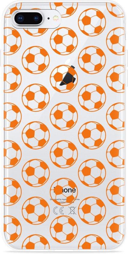 iPhone 8 Plus Hoesje Orange Soccer Balls