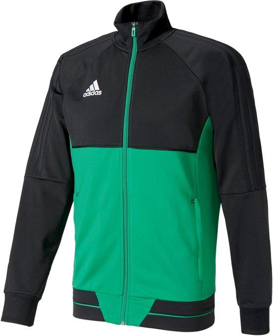 adidas Tiro17 Trainingsjas Maat S Mannen groenzwart
