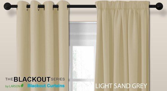 bol.com | Luxe blackout gordijn met haak – licht zandgrijs 3x2.5m ...