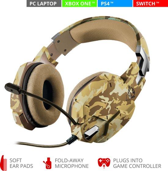 GXT 322 Carus - Gaming Headset voor PS4 en PC - Desert Camouflage