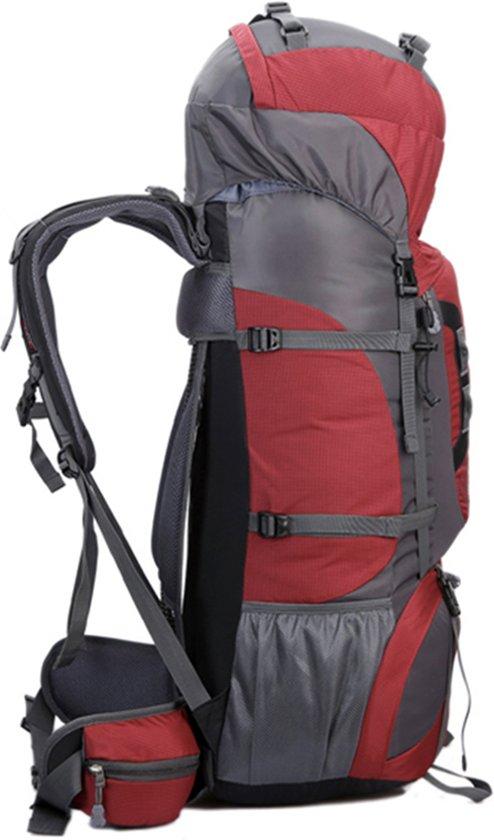 0922bac0509 bol.com   Beefree 80 Liter nylon Backpack - Blauw   Inclusief  flightbag/regenhoes