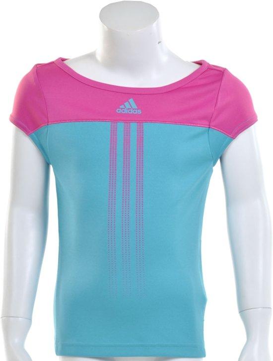 9e928b0642e adidas Girls Response Capsleeve - Sportshirt - Kinderen - Maat 176 - Intens  Blauw;Intens