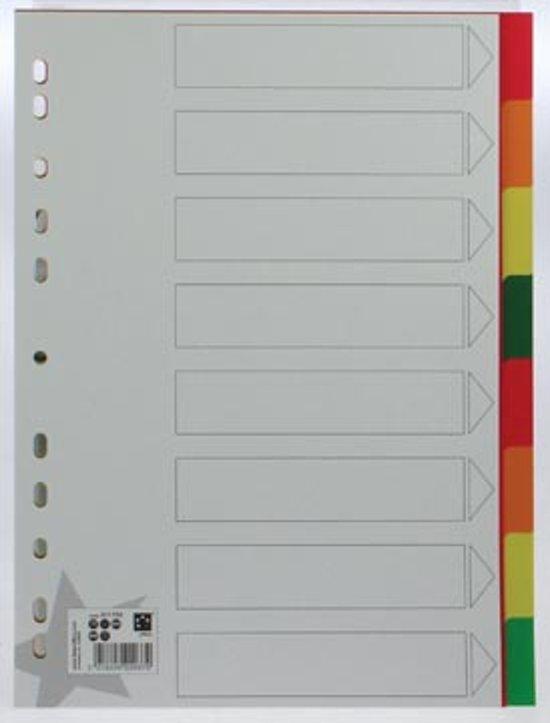 5 Star tabbladen formaat A4 11-gaatsperforatie 8 tabs