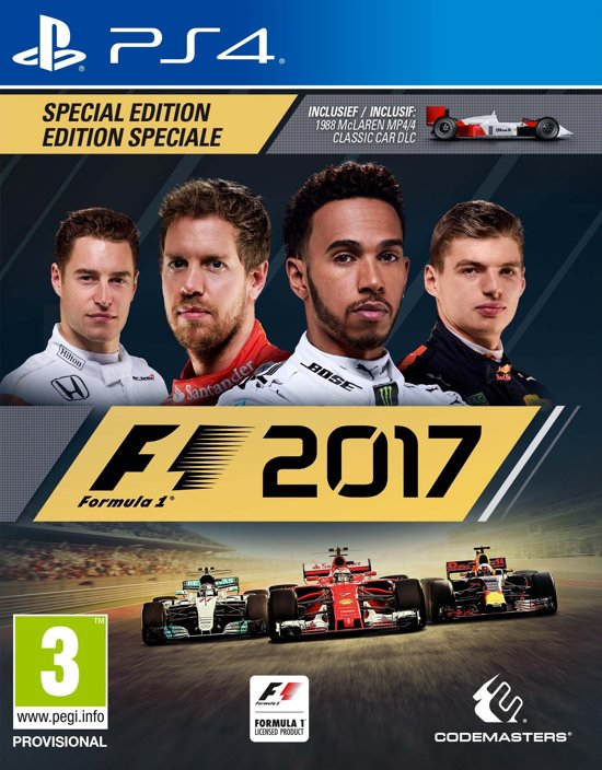 f1 2017 special edition ps4 codemasters games. Black Bedroom Furniture Sets. Home Design Ideas
