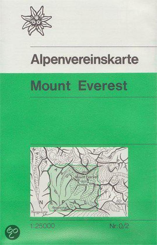 DAV Alpenvereinskarte 0/2 Mount Everest 1 : 25 000