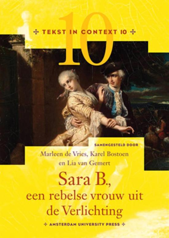 bol.com | Tekst in Context 10 - Sara B., een rebelse vrouw uit de ...