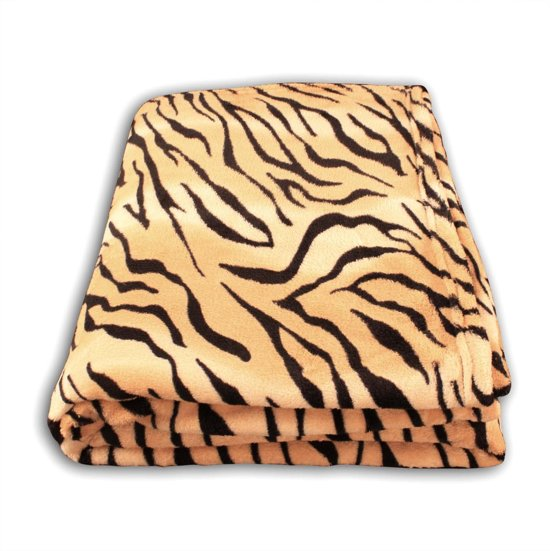 Deken Met Dierenprint.Super Zachte Fleece Plaid Tijger Print 150x200cm Wasbaar