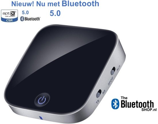 Bluetoolz® - Aptx-HD Bluetooth 5.0 Zender en Ontvanger - BT 3753 - koppelt 2 koptelefoons tegelijk