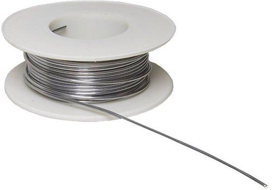 Soldeertin Soldeerdraad Ø 1mm 55 gram op rol tin met flux kern