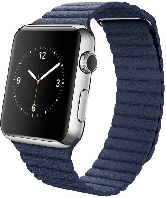 Leren Bandje met Magneetsluiting voor Apple Watch - Blauw - 42mm