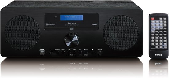 Lenco DAR-060 - DAB+ Radio met CD-speler en Charging USB - Zwart
