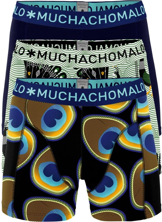 MuchachoMalo - 3-Pack Proud As A Peacock Boxershorts - XXL